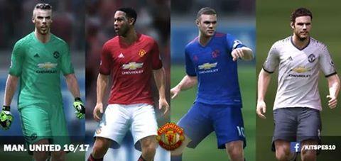 2fbd852b3e5 ultigamerz  PES 2010 Manchester United 2016 17 GDB Kits