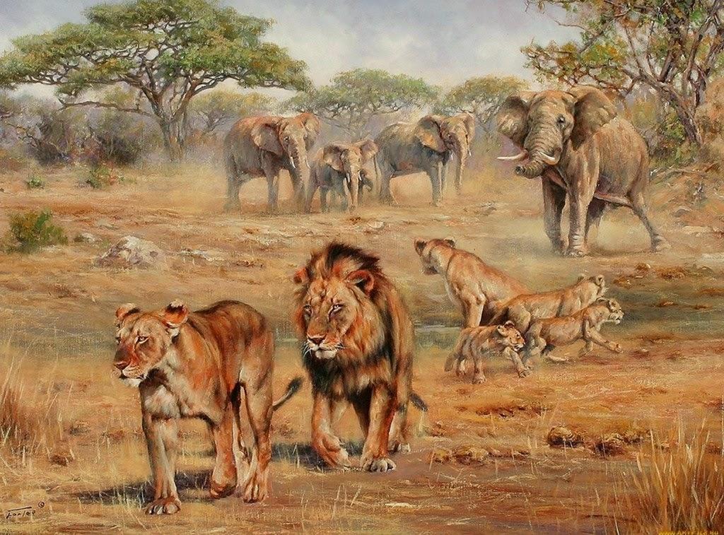 Paisajes De Animales: Imágenes Arte Pinturas: Imágenes Paisajes Naturales Con