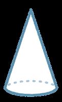 立体のイラスト(円錐)