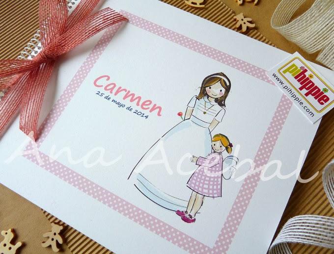 libro firmas comunion personalizado artesanal niña