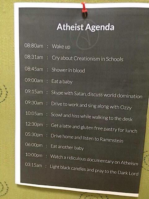 Funny Atheist Agenda Picture