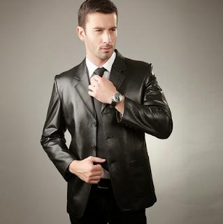 jaket kulit model blazer