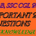 RRB, SSC CGL 2016, important 200 questions  (must read)