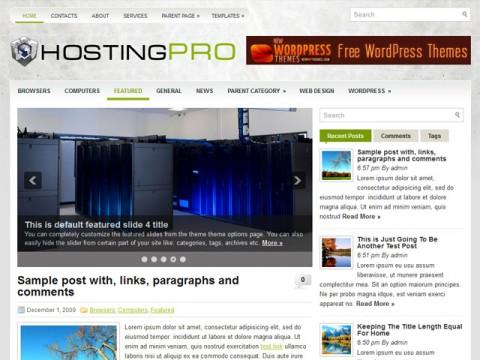 Free HostingPro - Hosting Easy WordPress Theme