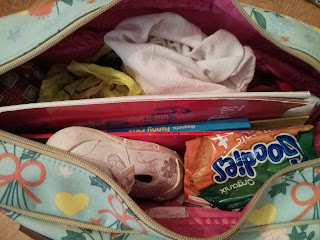 Bag packed for the train
