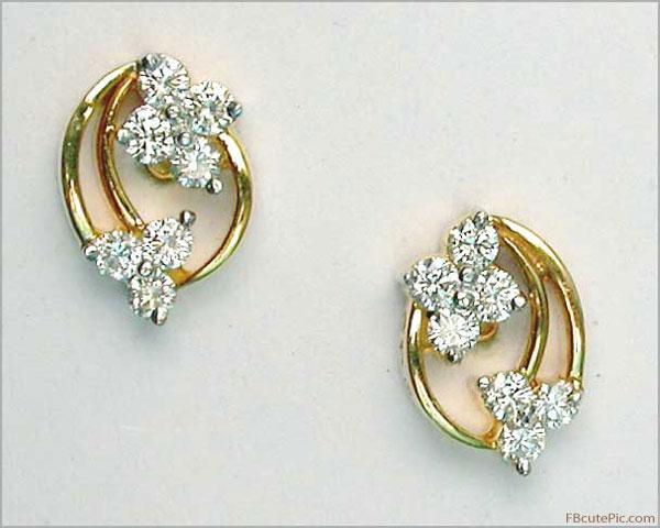 Diamond Fashion Earrings For Girls 13