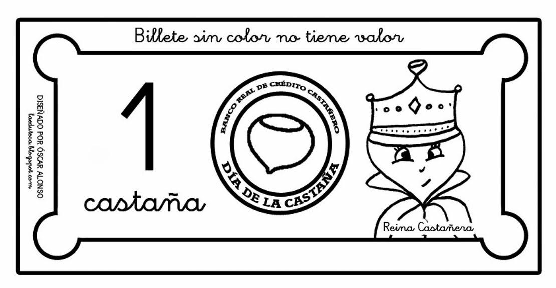 CLUB DE IDEAS Billetes y monedas para el Día de la Castaña