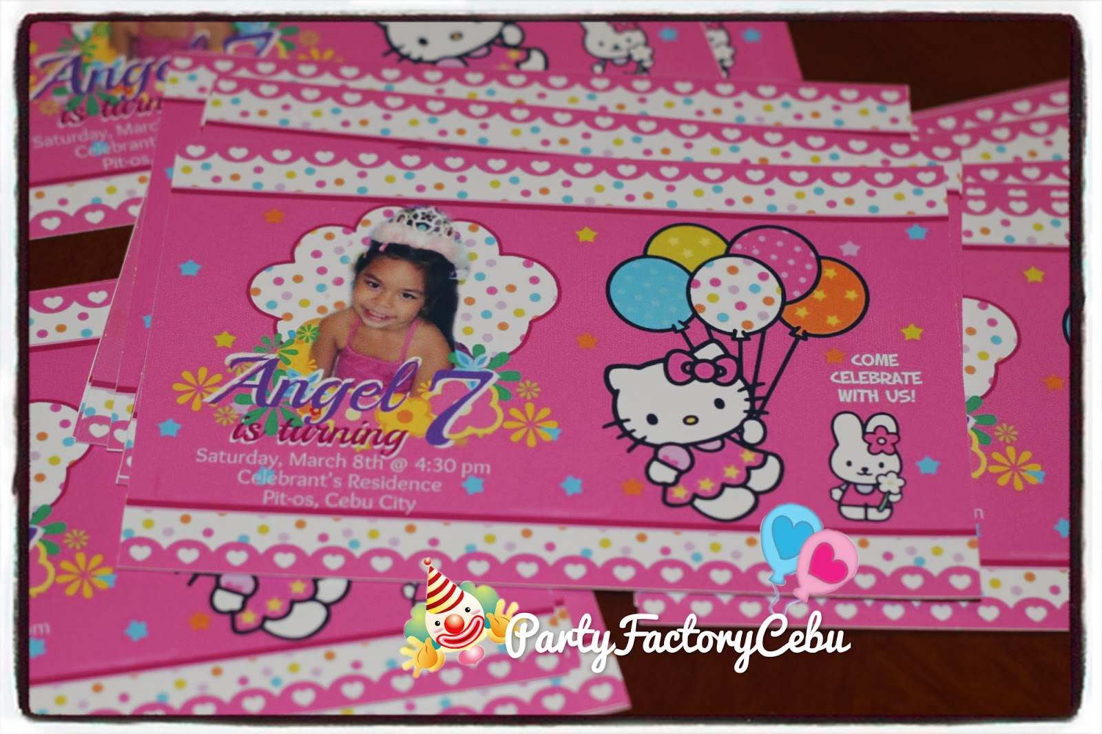 Welcome To Partyfactory Cebu Angel S 7th Birthday Bash