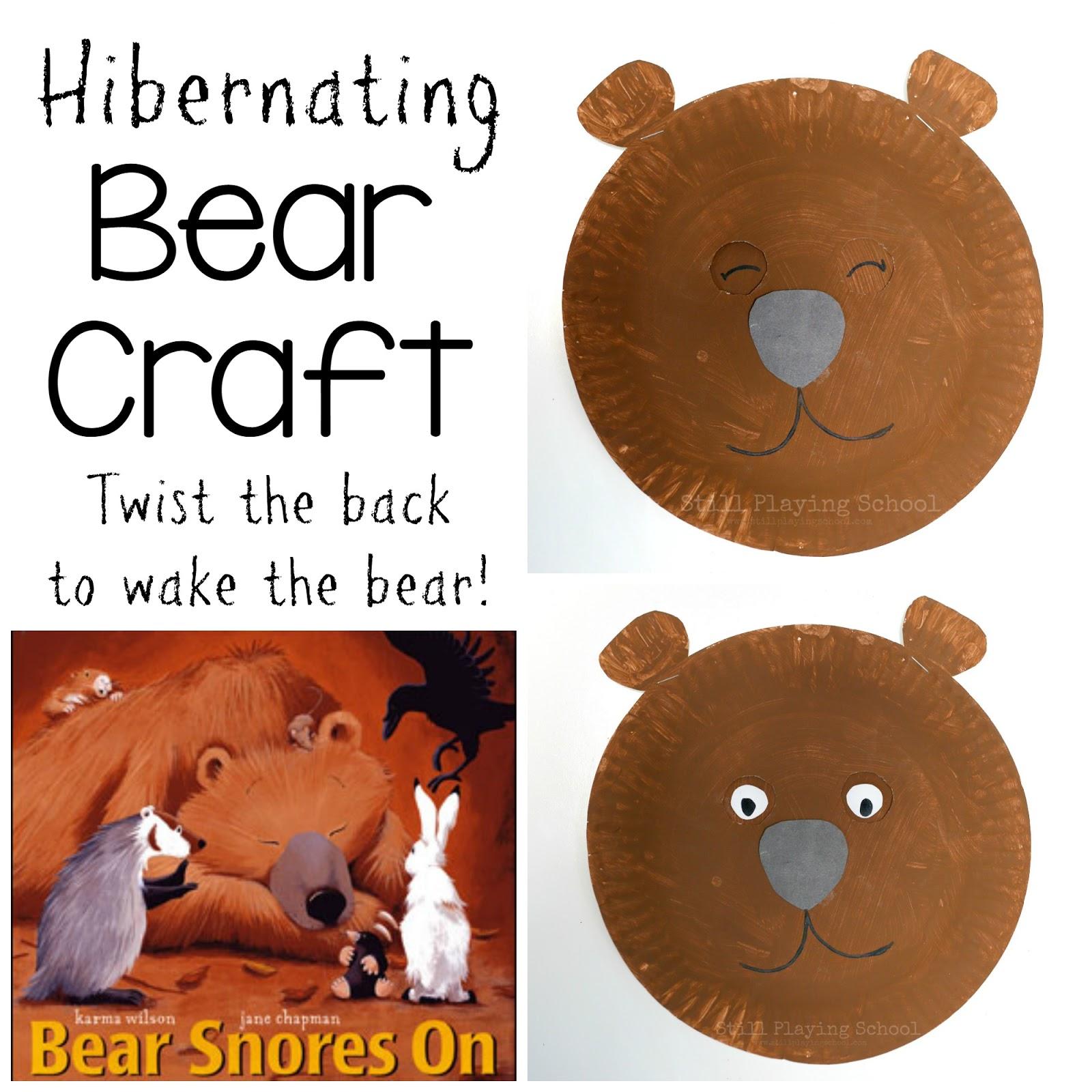 Hibernating bear craft for kids still playing school for Hibernation crafts for kids