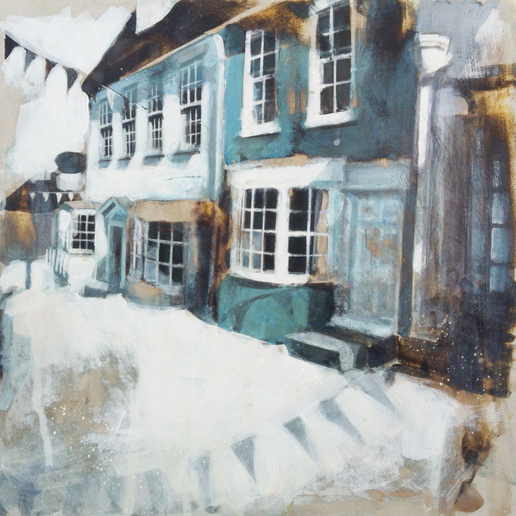 07-Bunting-Quay-Hill-Lymington-Camilla-Dowse-Soothing-Architectural-Acrylic-Paintings-www-designstack-co