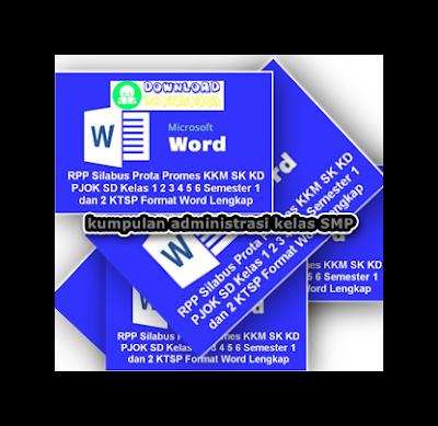 Download Administrasi Guru KTSP : SK, KD, Silabus, RPP, KKM, Prota, Promes SMP/MTs Kelas VII, VIII, IX Lengkap