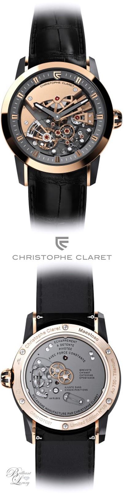 Brilliant Luxury ♦ Christophe Claret Maestoso Watch Men