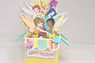 Tinkerbell Box Card - Disney Pixar Blog Hop