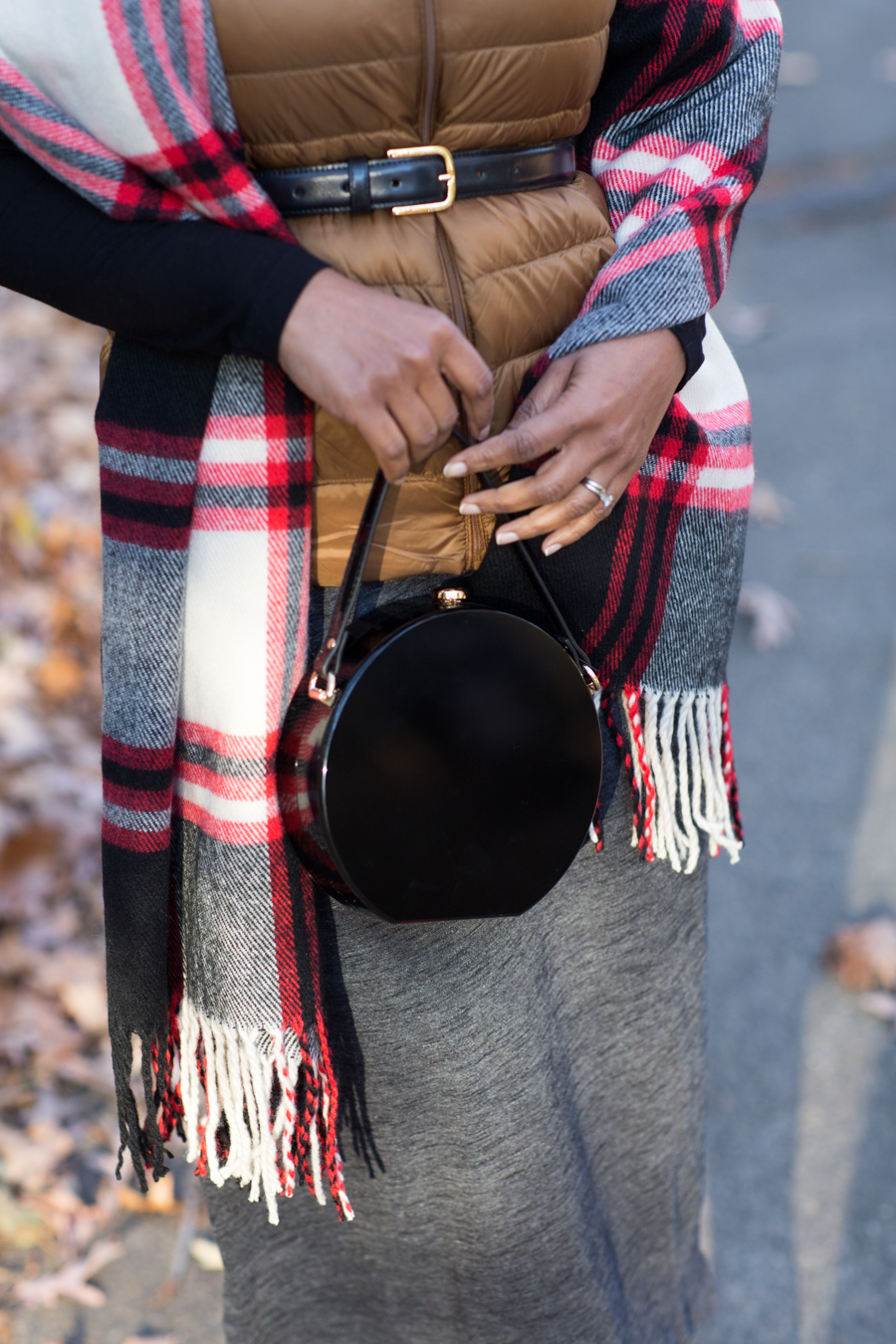 winter style, fall style, layering, styling tips, petite fashion, plaid, holiday style, holiday gifts, puffer vest, metallics