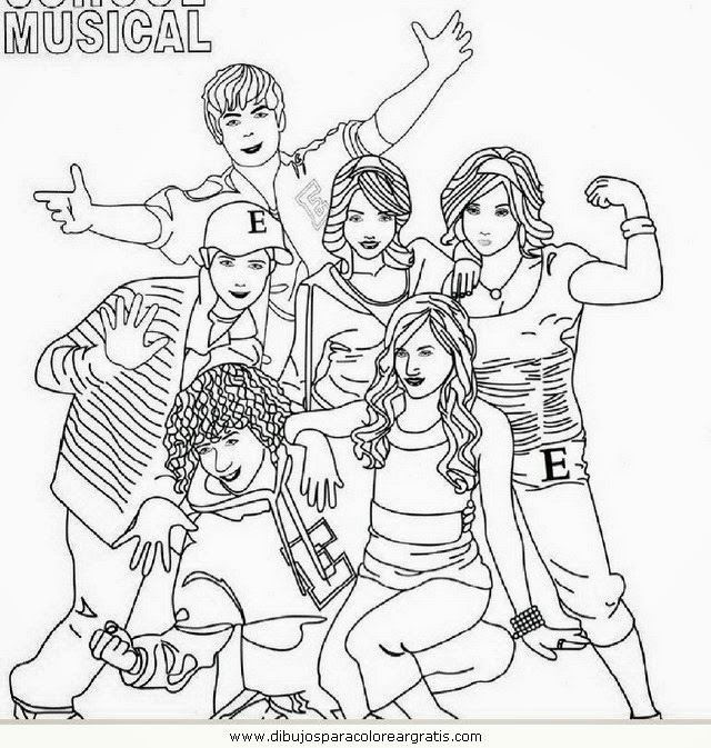 high school musical coloring pages # 8