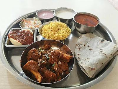 maharashtrian chicken thali