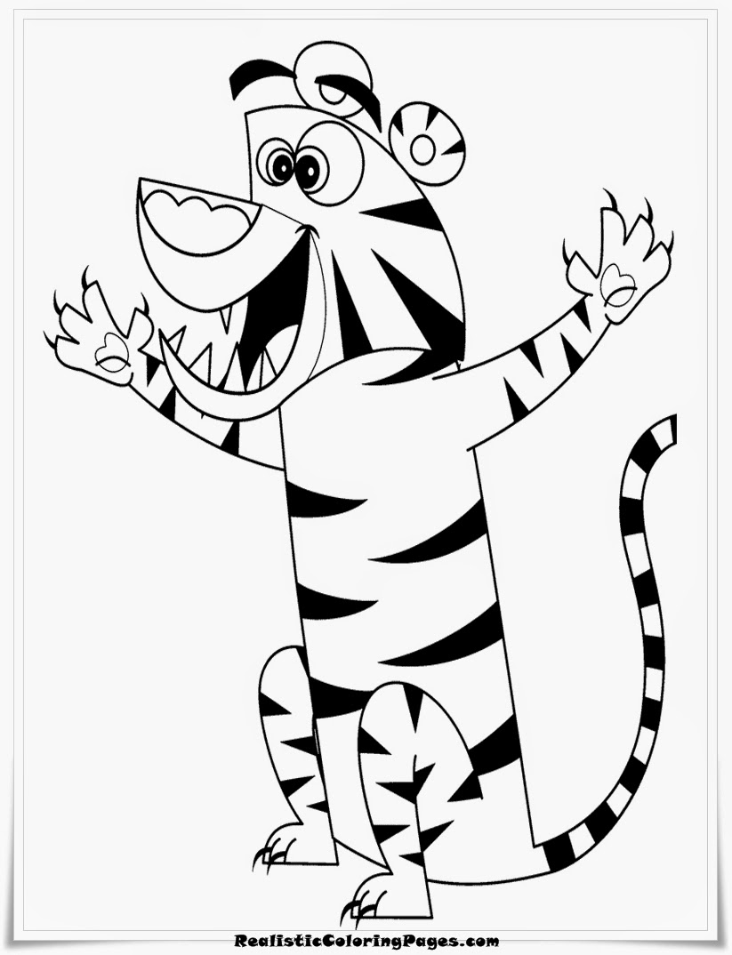 george of the jungle cartoon tiger coloring pages