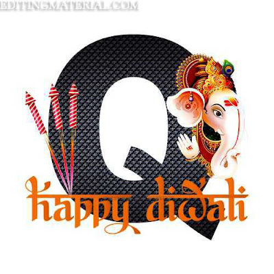 happy diwali Q alphabet image