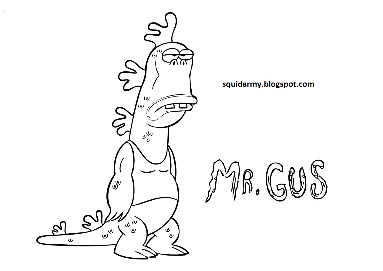 Uncle Grandpa Coloring pages - Mr Gus - Squid Army