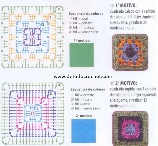 Famoso Patrones Cuadrados De Tejer Abuelita Festooning - Ideas de ...