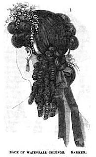 "Back of ""Waterfall Chignon"" from Frank Leslie's, 1864"