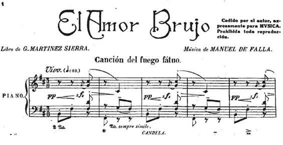 Resultado de imagen de falla danza ritual partitura viola
