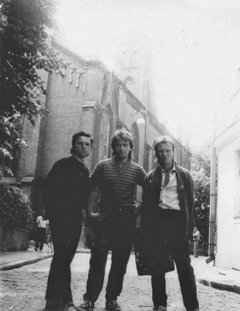 "1987 год. Рига. Улица Англиканю. Группа ""Чайф"" (фото из архива группы ""Чайф"")"