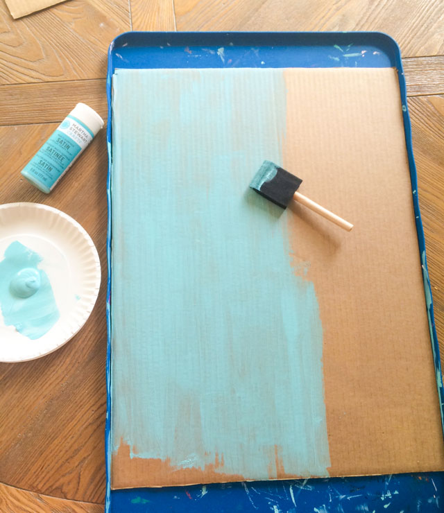 Ideal Cardboard crafts turn a box into wall art