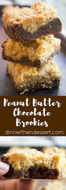 PEANUT BUTTER CHOCOLATE BROOKIES