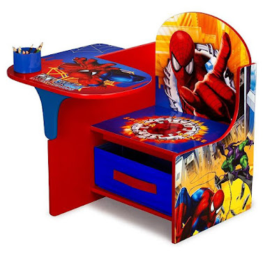 Spiderman Chair Desk with Storage Bin