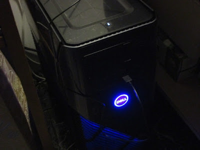 Dell Inspiron Gaming Desktop glowing blue computer tower