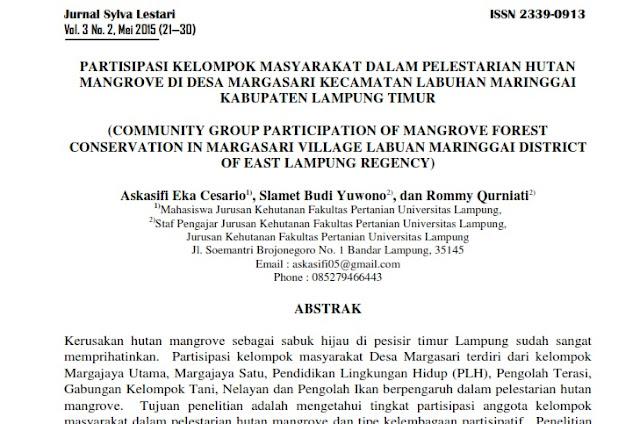 Ekowisata di Desa Margasari Lampung Timur