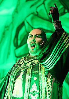Adam Pearce as Abanazar in the Milton Keynes 2012 Panto