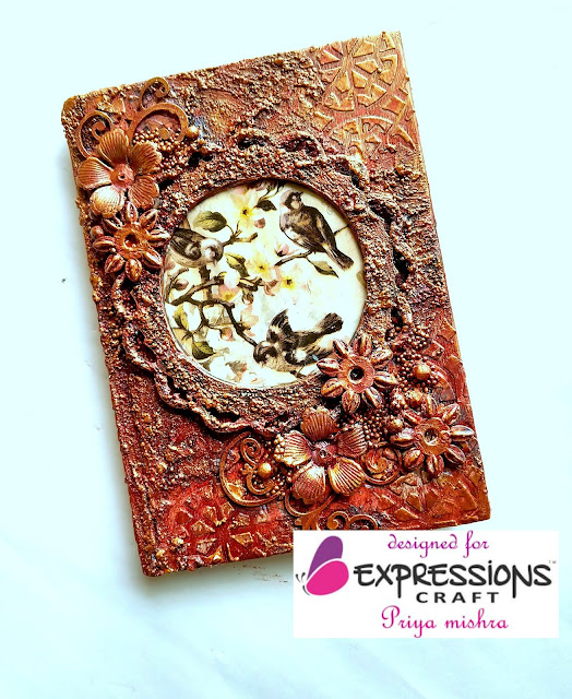 Mixed Media Diary cover for Expressions Craft