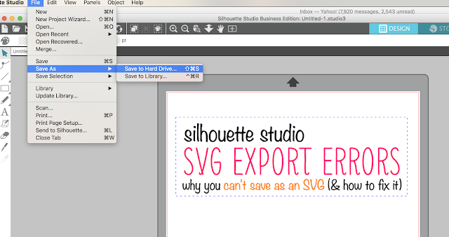 Silhouette studio svg help,export as svg silhouette studio, silhouette studio, silhouette design studio, silhouette studio tutorials, how to use silhouette studio, silhoutte studio, silhouettestudio
