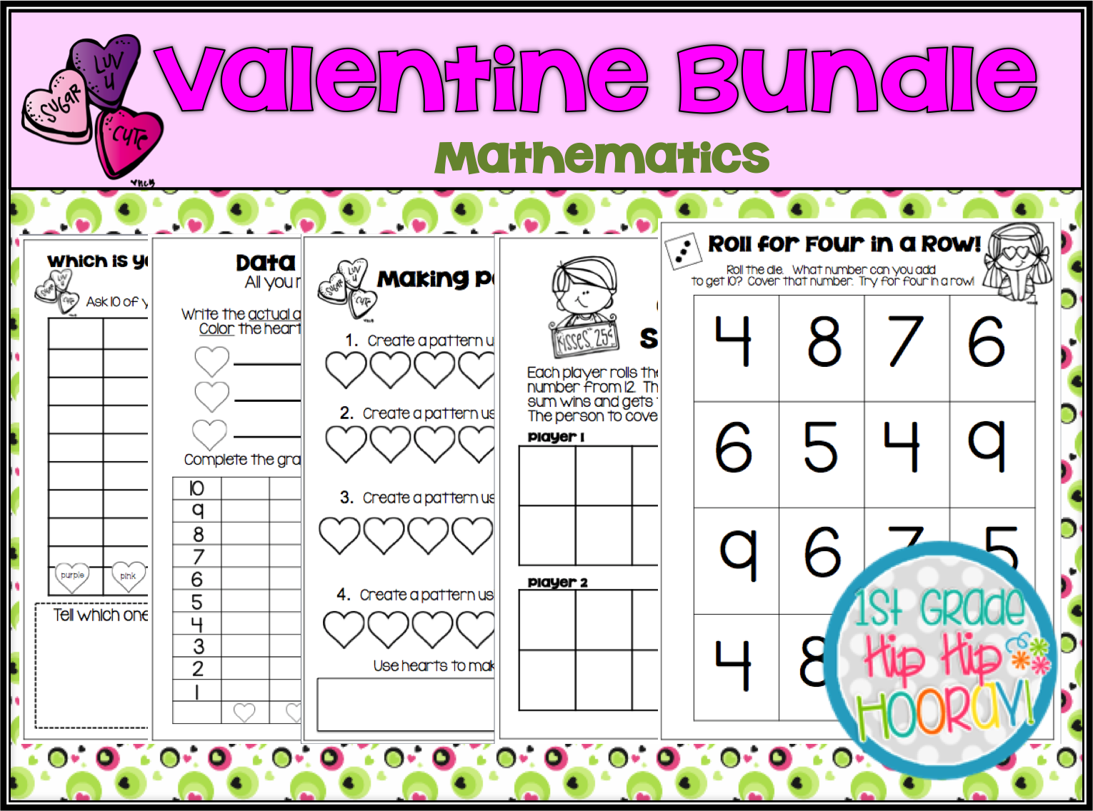 1st Grade Hip Hip Hooray Valentine S Day Is On The Way
