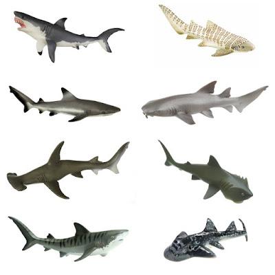 Shark figures for kids.