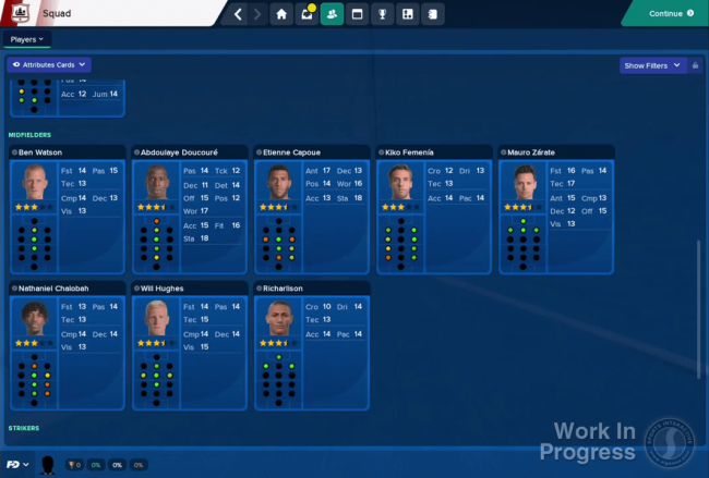 Work In Progress Screenshots Football Manager 2018