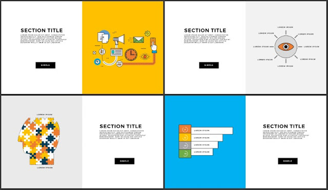 Free Infographic Section Titles PowerPoint Template Slide 5-8