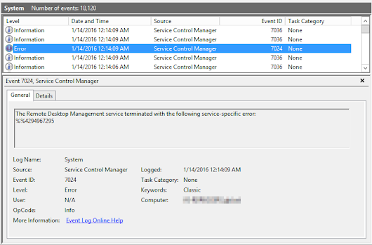 The Remote Desktop Management service fails to start on RDS 2012 R2 Connection Broker