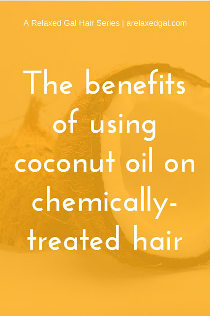 Coconut oil contains saturated fatty acids and Vitamin E which are beneficial to relaxed, colored and natural hair. See all the benefits of using coconut oil on your hair. arelaxedgal.com.