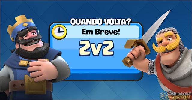 Botão 2v2 no Clash Royale