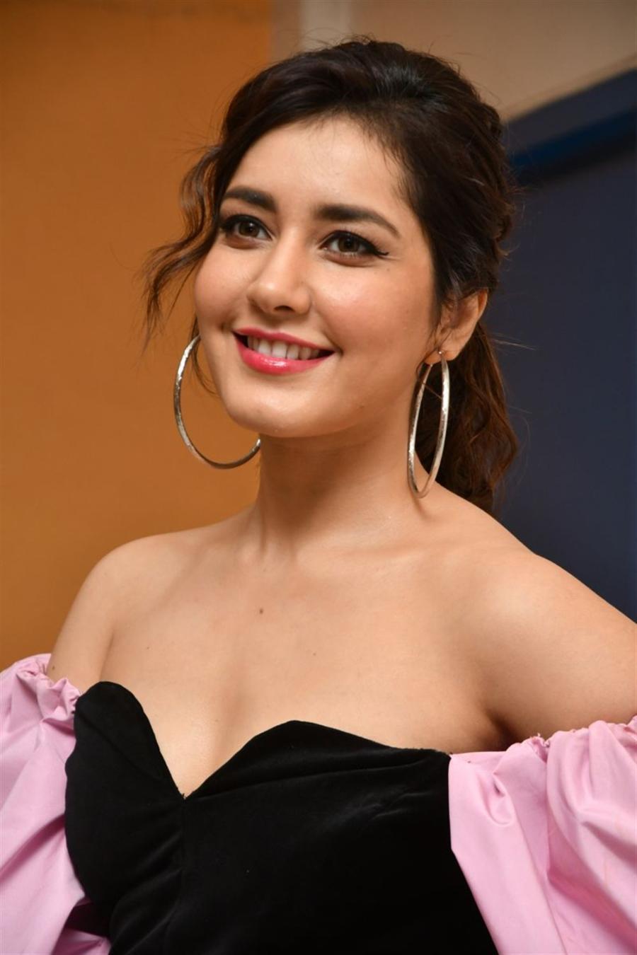 Indian Actress Rashi Khanna at Prati Roju Pandage Movie Song Launch