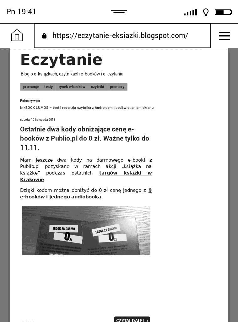 Strona Eczytanie w przeglądarce na PocketBook Touch Lux 4