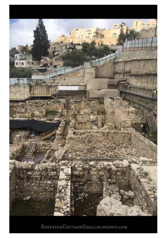 The Holy Land photo of 3000 year old homes that have been revealed