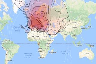 Footprint Satellite Eutelsat Hot Bird 13C 13.0°E KU Band