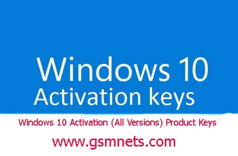 Windows 10 Activation (All Versions) Product Keys