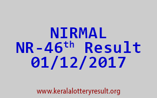 NIRMAL Lottery NR 46 Results 1-12-2017