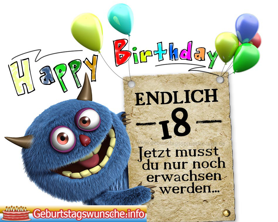 Glückwünsche Zum 18 Geburtstag 18 Geburtstagswünsche Für Freunde