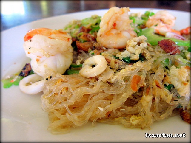 Bitter Gourd fried with Seafood and Glass Noodles - RM14